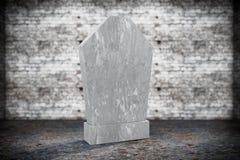 Lapide commemorativa in bianco Fotografia Stock
