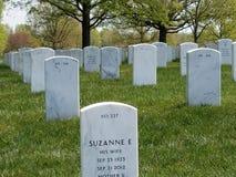 Lapide del cimitero nazionale di Arlington Immagini Stock Libere da Diritti