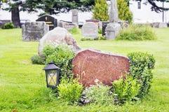 Lapide di marmo in cimitero norvegese Immagine Stock
