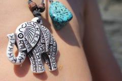Lapidez l'éléphant Images libres de droits