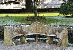 Lapidez le banc Photos stock