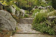 Lapidez le chemin d'escalier image libre de droits
