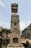 Lapidez le pilier découpé chez Ellora Caves, le temple de Kailasa, ne foudroyez aucun 16, Inde Photographie stock