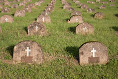 Lapidi in cimitero Fotografie Stock