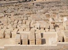 Lapidi di un cimitero ebreo antico sul monte degli Ulivi Immagine Stock Libera da Diritti