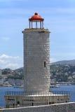 Lapidi il faro in isola vicino a Marsiglia Fotografie Stock