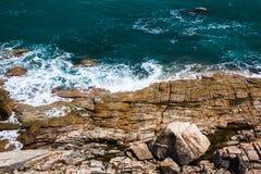 Lapidi la costa Fotografia Stock