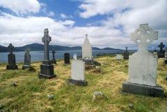 Lapidi nel cimitero della chiesa di Kilcatherine, sughero, Irlanda fotografie stock