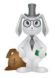 Lapin-banquier Images stock