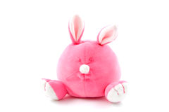 Lapin bourré par rose Image stock