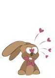 Lapin d'amour Photo stock