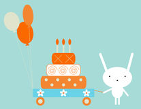 Lapin d'anniversaire illustration stock