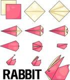 Lapin d'origami illustration libre de droits