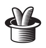 Lapin dans le chapeau. illustration stock