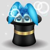 Lapin dans le chapeau magique Photo stock
