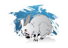 Lapin de lapin de la mort Photographie stock libre de droits