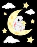 Lapin de lune illustration libre de droits