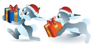 Lapin de Noël Image libre de droits