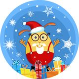 Lapin de Noël Illustration Stock