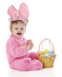 Lapin de Pâques assez rose Photographie stock