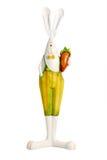 Lapin de Pâques avec le carot Photo libre de droits