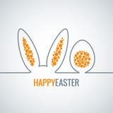 Lapin de Pâques avec le fond de vecteur d'abrégé sur oeufs