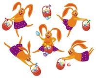 Lapin de Pâques avec le panier illustration libre de droits