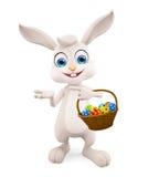 Lapin de Pâques avec le panier d'oeufs illustration libre de droits
