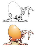 Lapin de Pâques avec un agg Illustration Libre de Droits