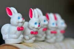 Lapin de Pâques blanc Photographie stock libre de droits