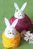 Lapin de Pâques décoratif Images libres de droits