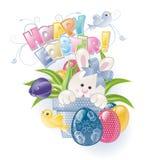 Lapin de Pâques dans le flowerpot Image libre de droits