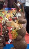 Lapin de Pâques de chocolat Photo stock