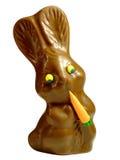 Lapin de Pâques de chocolat photographie stock
