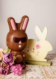 Lapin de Pâques de chocolat Photographie stock libre de droits