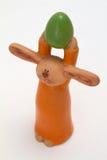 Lapin de Pâques en argile Photographie stock libre de droits