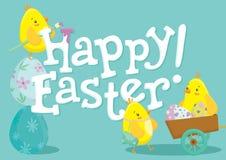 Lapin de Pâques et modèle de vacances d'oeufs Photo stock