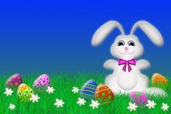 Lapin de Pâques et oeufs de pâques Image stock