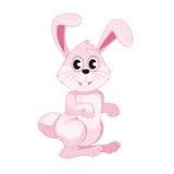Lapin de Pâques rose de sourire mignon photo libre de droits