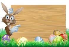 Lapin de Pâques se dirigeant au signe