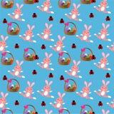 Lapin de Pâques seameless Photo stock