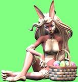 Lapin de Pâques sexy Images libres de droits