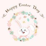 Lapin de Pâques sur le fond blanc Image libre de droits