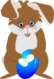 Lapin de professeur, pour Pâques ou l'amusement Images libres de droits