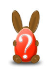 Lapin de question Photo libre de droits