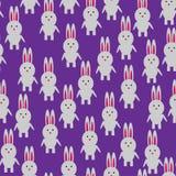 Lapin de Seanless sur la violette Photographie stock libre de droits