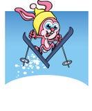 Lapin de ski Illustration Stock