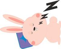Lapin de sommeil Images stock