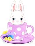 Lapin de tasse illustration stock