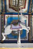 Lapin de tour juste de carrousel de vintage Photos stock